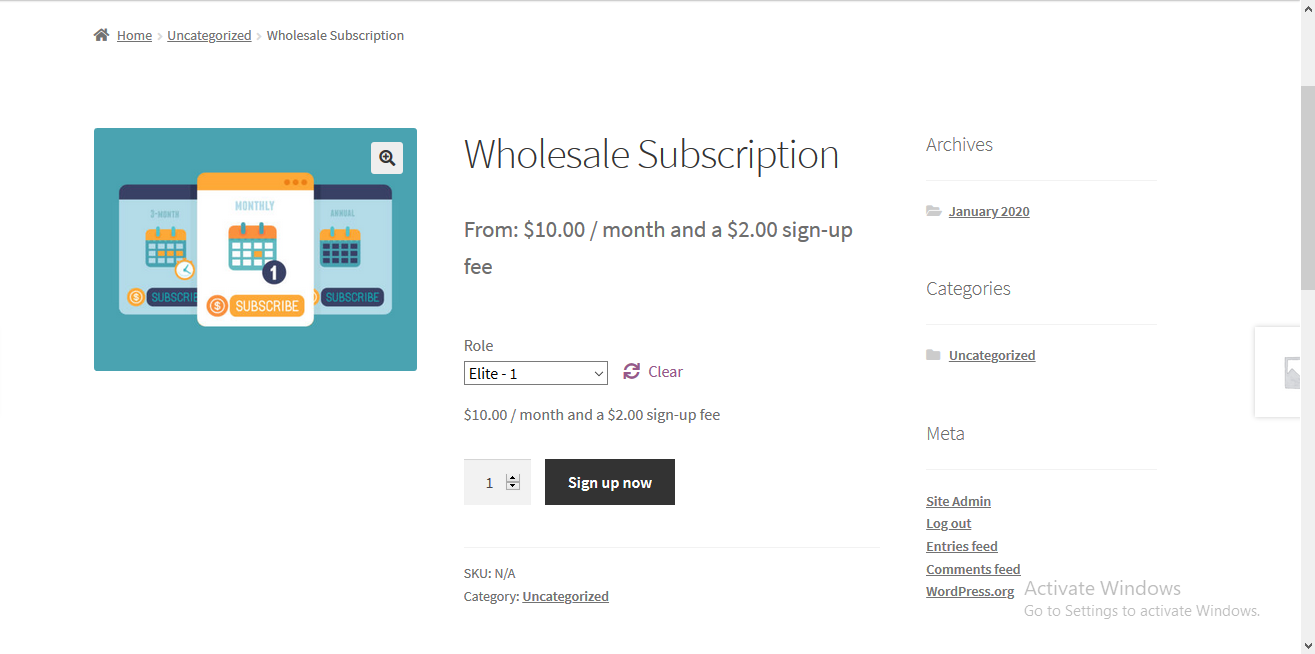 Integration with WooCommerce Subscription